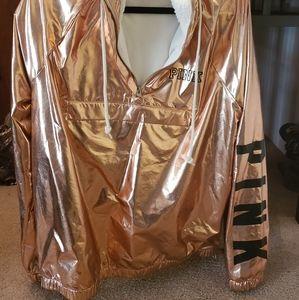 Rose Gold Metallic pull over Shera lining